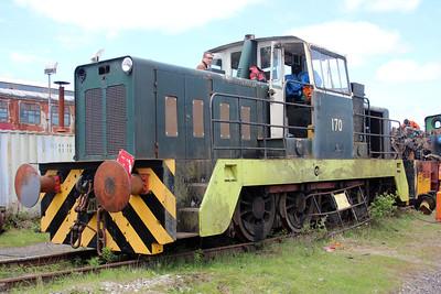 Ind 0-8-0 No 170 at the Blaenavon & Pontypool Railway, Furnace sidings.