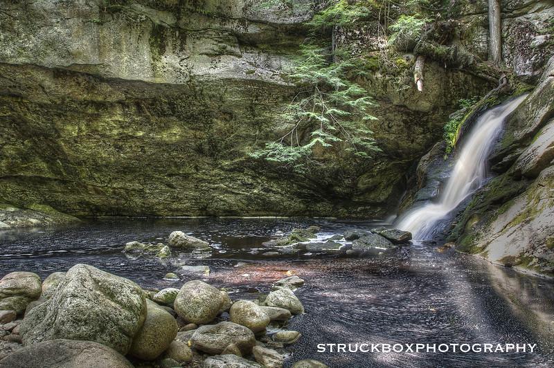 Upper Purgatory Falls<br /> Milford, NH<br /> HDR