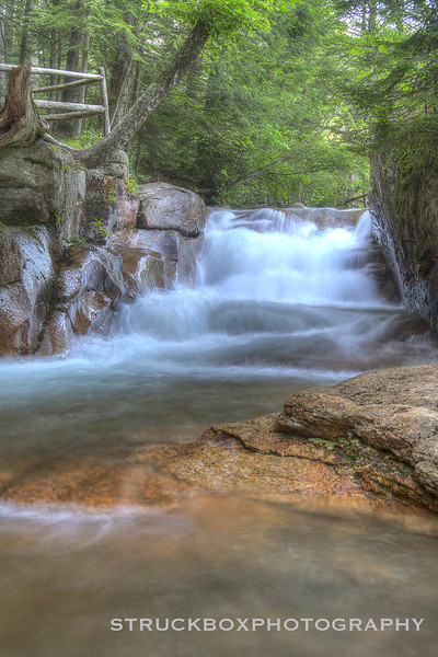 The Baby Flume at the Basin<br /> Franconia Notch State Park