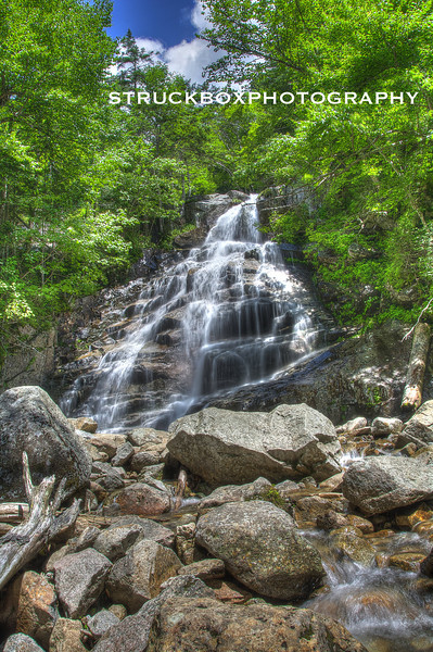 Cloudland Falls. Falling Waters Trail<br /> Franconia Notch State Park, Lincoln NH<br /> HDR