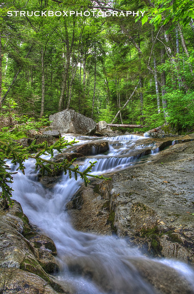 Falling Waters Trail<br /> Franconia Notch State Park<br /> HDR