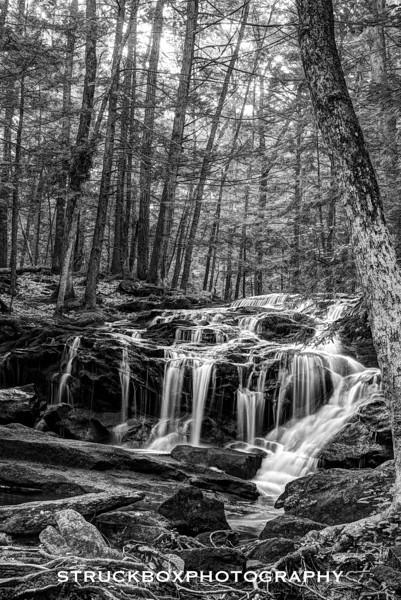 Tucker Brook Falls<br /> Milford NH<br /> HDR