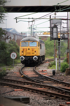 56312 running round its wagons at Willesden Jct in readiness for the Willesden-Calvert daily run.