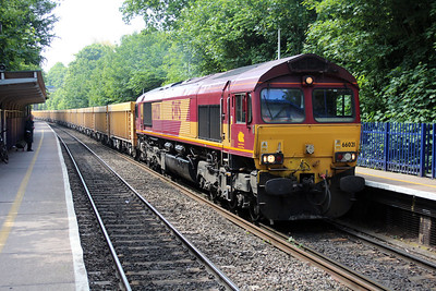 66021 1130/6m26 Eastleigh-Stud Farm passing Reading West.
