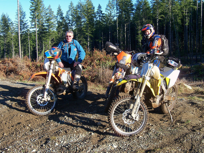 Steve & KTM 300 with Marty & KTM 530 on the Hurd road Trails