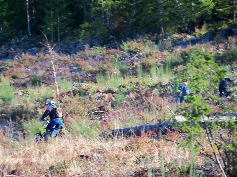 Bart riding the Stimson Creek Trails
