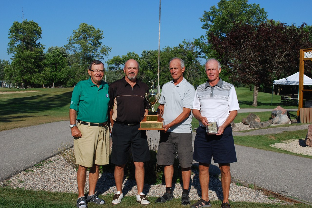 Senior Interclub Rural Winners, Shilo - Ray Smart, Dwight Edwards, Dave McMillan and Adrian Plante