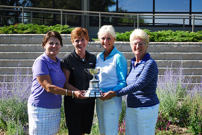 Interclub A Net Winners, Breezy Bend - Joanne Bloomer, Maury Hill, Ruth MacEachern and Sheila Perry