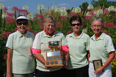 Interclub B Low Gross Winners, Shilo - Judy Prange, Dawn Choy, Connie Chudley and Susan Ash