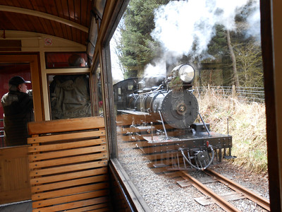 Number 2 runs round its train