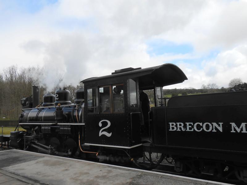 Our locomotive on The Brecon Mountain Railway