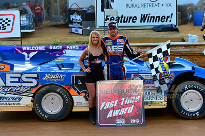 Jonathan Davenport won the Red Buck Fast Time Award