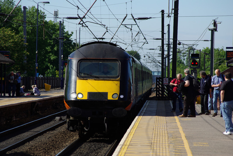 43468 + 43423 arrive at Northallerton working the 16:29 Sunderland - London Kings Cross 08/06/13