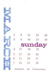 March, 2013, Heirloom Press