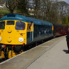 26038 arrived at Oxenhope having worked the 12:55 from Keighley 26/04/13