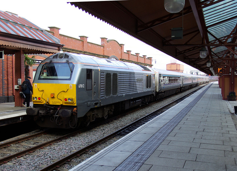 67012 on arrival at Birmingham Moor St after working the 13:15 from London Marylebone 01/02/13