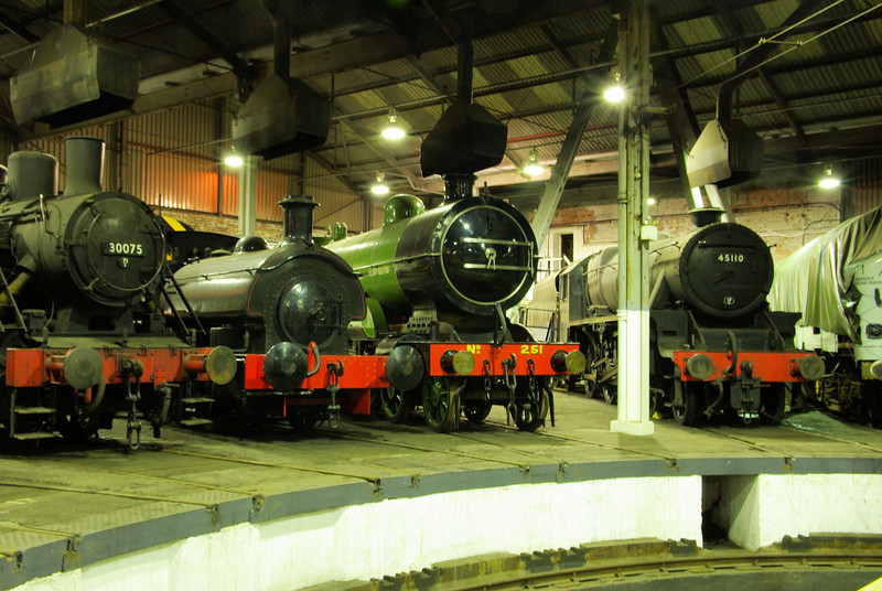 "30075 + 251 + 45110 at the  <a href=""http://www.wnxx.com"">http://www.wnxx.com</a> night photoshoot at Barrow Hill Roundhouse 01/02/13"