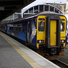 156436 at Newcastle about to work the 13:22 to Glasgow Central via Carlisle 29/03/13