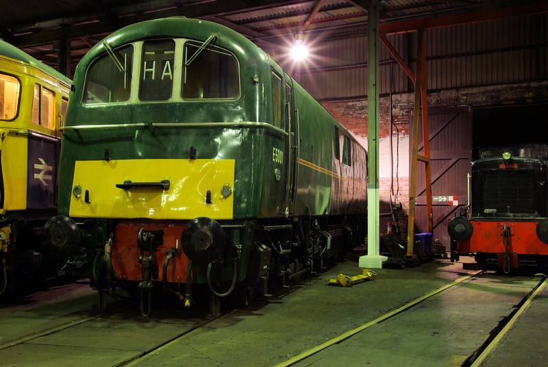 "E5001 at the  <a href=""http://www.wnxx.com"">http://www.wnxx.com</a> night photoshoot at Barrow Hill Roundhouse 01/02/13"