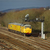 31105 + 31285 pass Llandeilo Jn, Llanelli working the 01:56 Bristol Kingsland Road - Derby RTC via West Wales 12/01/13