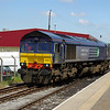 66301 runs round the train at Leeming Bar 08/06/13