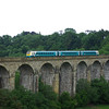 175101 crosses Chirk viaduct working the 14:34 Holyhead - Cardiff Central 21/06/13