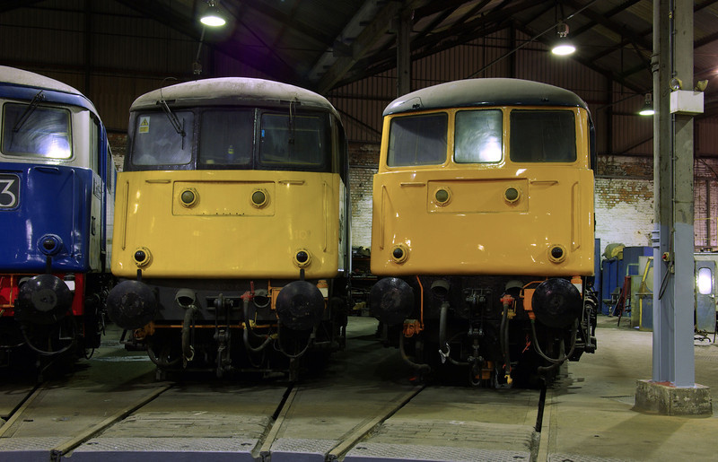 "85006 + 81002 at the  <a href=""http://www.wnxx.com"">http://www.wnxx.com</a> night photoshoot at Barrow Hill Roundhouse 01/02/13"