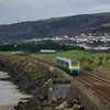 175115 passes Pwll, Llanelli working the 05:55 Crewe - Carmarthen 12/01/13