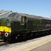 D6700 (37350) runs round the train at Leeming Bar 08/06/13