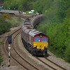 66030 re-joins South Wales Mainline at Briton Ferry working the 12:37 Cwmgwrach - Aberthaw Power Station coal train 18/05/13
