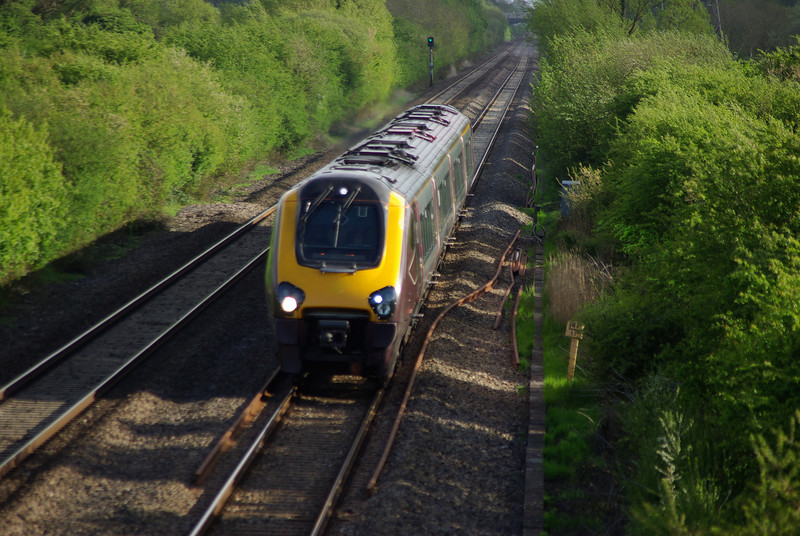 220027 between Bridgwater and Highbridge working the 16:25 Plymouth - Leeds 11/05/13