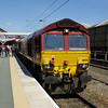66128 prepares to work the next leg of UK Railtours Whitehouse Wanderer 07:50 St Albans - Chessenden Sidings (Derby) 25/05/13
