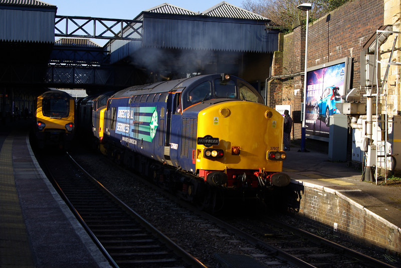 37607 + 37409 depart Cheltenham Spa with Pathfinder Railtours Easter Highlander 05:15 Exeter St David's - Hexham 29/03/13
