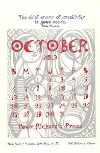 October, 2013, Poor Richard's Press