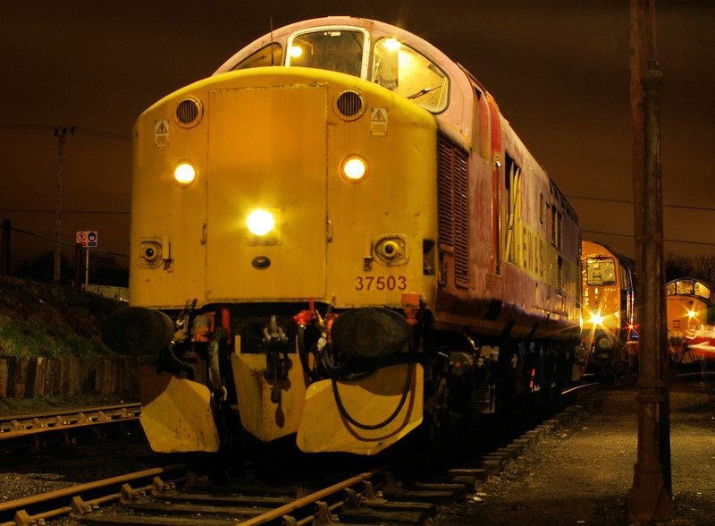 "37503 at the  <a href=""http://www.wnxx.com"">http://www.wnxx.com</a> night photoshoot at Barrow Hill Roundhouse 01/02/13"