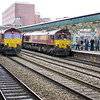 66161 passes through Newport at 66181 arrives with the UK Railtours 07:50 London Paddington - Uskmouth Power Station railtour 09/03/13