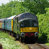 D6700 (37350) arrives at Finghall Lane working the 13:05 Redmire - Leeming Bar 08/06/13