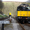 20031 is complying with the sign and whistling away at Oxenhope 26/04/13