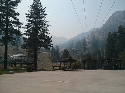 Squaw is covered in smoke from the Rim Fire in Yosemite.