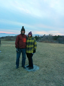A balmy (20 F) Christmas day walk at Lodge Park in Nahant, MA.