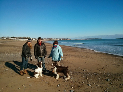 A balmy (20 F) Christmas day walk on the beach in Swampscott, MA.