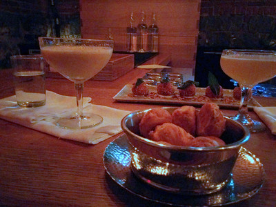 Late night cocktails and snacks at Drink in Boston, MA.