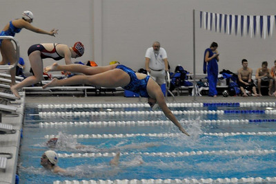 Swim and Dive Meet with Clear Lake