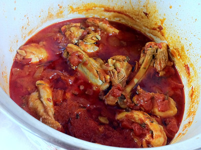 Romanian Cooking Class, December 4, 2012: Chicken Ostropel