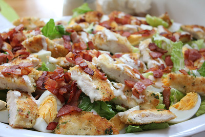 Summer Picnic, June 6,2013: Chicken Schnitzel Caesar Salad