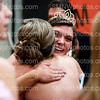 Senior Mallory Wilhite hugs senior Morgan Carl after being crowned the 2014 Queen of Courts on Feb. 14 in the Main Gym. Senior Meghan McCluskey was the first runner-up, and senior Tori Devonshire was the second runner-up.