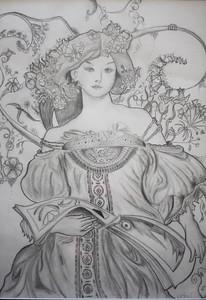 "Kent Art Association Student Showcase Winner  ""Lady"" by Laura-Delight van Tartwijk '15"