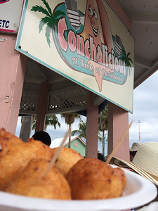 Kori Rimany '14: Fresh conch fritters in the Bahamas