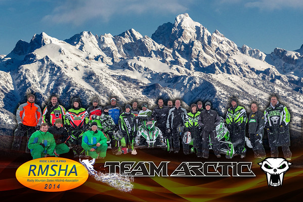 2014 Arctic Cat Team Poster 20x30