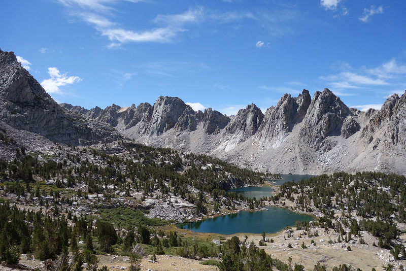 Kearsarge Lakes with Kearsarge Pinnacles in the background.